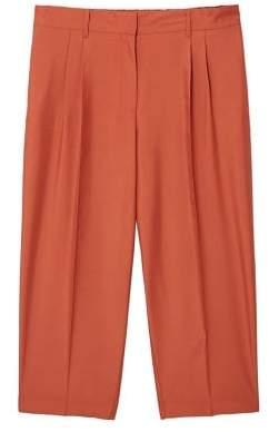 Violeta BY MANGO Flowy cropped trousers