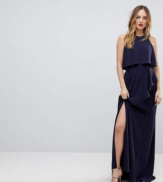 Asos Tall TALL Crop Top Thigh Split Maxi Dress