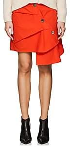 Ji Oh Women's Asymmetric Cotton Poplin Skirt - Orange