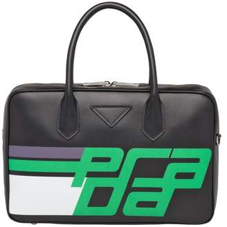 Prada Medium Leather Bag With Logo Print
