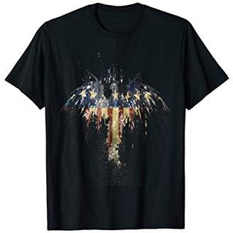 American Eagle 4th of July Shirt USA Flag Cracked Vintage