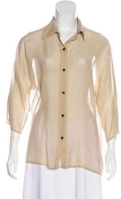 Jenni Kayne Sheer Button-Up Top