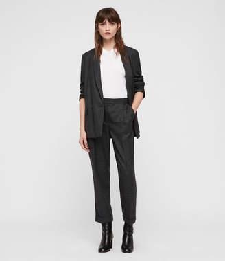 AllSaints Harriet Check Trousers
