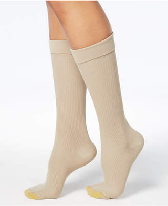 Gold Toe Wellness Women Compression Moderate Ribbed Calf Socks