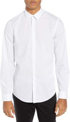Calibrate Slim Fit Non-Iron Micro Dot Sport Shirt