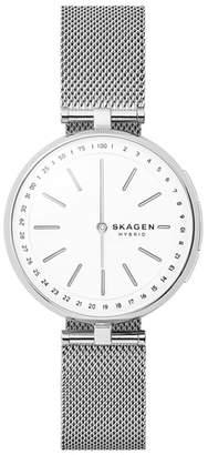 Skagen Signatur Connected T-Bar Mesh Strap Hybrid Smart Watch, 36mm