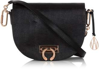 Amanda Wakeley Crossbody Niven Bag in Black Leather