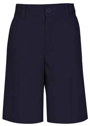 Real School Boys Husky Size Flat Front Shorts School Uniform Approved