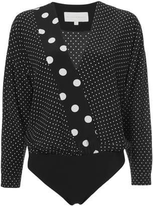 Michelle Mason oversized blouse bodysuit