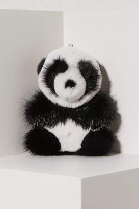 Loro Piana Panda mink fur keychain