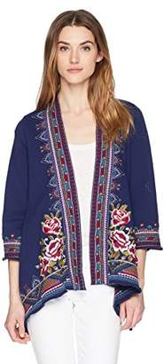 Johnny Was JWLA By Women's Langley Knit Draped Cardigan