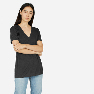 The Luxe Drape Deep V Tee $35 thestylecure.com