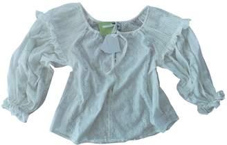Innika Choo White Cotton Top for Women