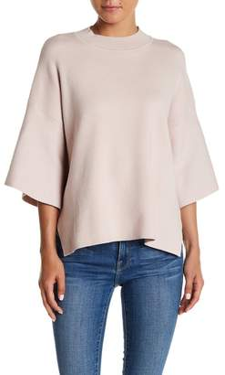 BLVD Mock Neck Solid Knit Sweater $44.38 thestylecure.com