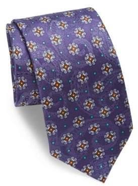 Eton Paisley& Floral Silk Tie