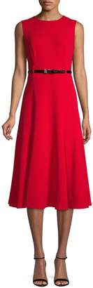 Calvin Klein Belted Fit--Flare Dress