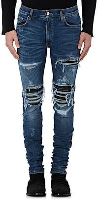 AMIRI Men's MX1 Leather Patch Slim Jeans $1,040 thestylecure.com