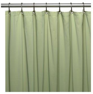 Carnation Home Fashions Mildew-Resistant, 10 Gauge Vinyl Shower Curtain Liner w/ Metal Grommets and Reinforced Mesh Header in Sage