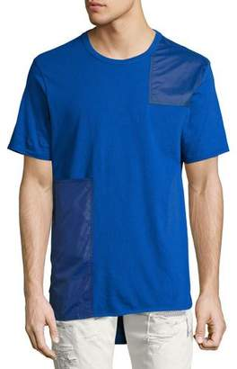 Mostly Heard Rarely Seen Tonal Patchwork T-Shirt, Blue