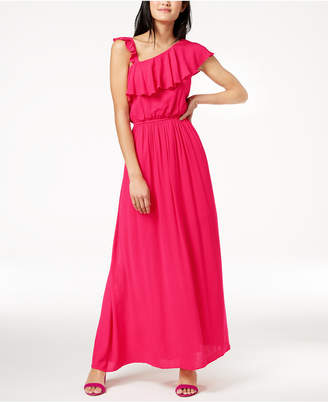 The Edit By Seventeen Juniors' Crepe One-Shoulder Maxi Dress, Created for Macy's