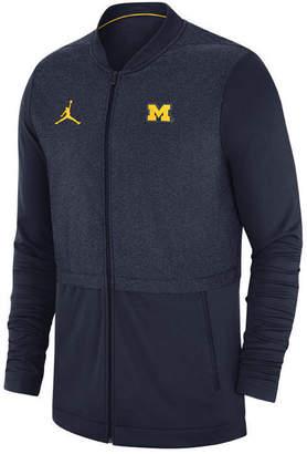 Nike Men Michigan Wolverines Elite Hybrid Full-Zip Jacket
