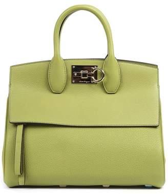 Salvatore Ferragamo Green Leather Tote Studio Bag