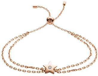 Fossil Star Rose Gold-Tone Stainless Steel Bracelet jewelry