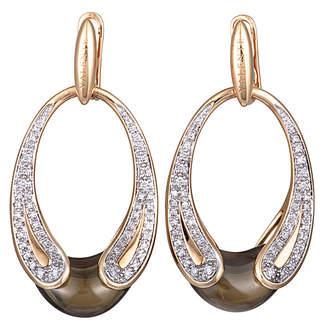 Valente Milano 18K Rose Gold 9.65 Ct. Tw. Diamond & Smoky Quartz Earrings