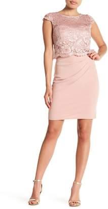 Marina Met Lace Shift Dress (Petite)