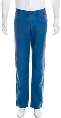 Loro Piana Cropped Five Pocket Bootcut Jeans