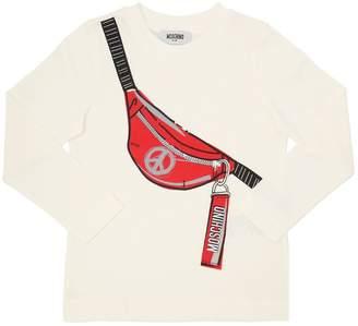 Moschino Belt Pack Printed Cotton Jersey T-Shirt