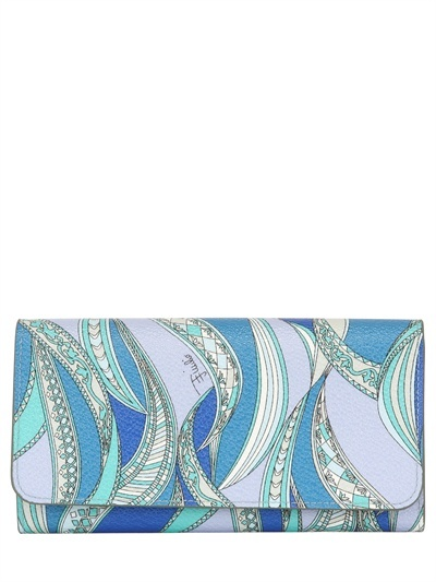 Emilio Pucci 'zagare' Printed Pvc Wallet