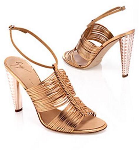 Giuseppe Zanotti Braided Multi-Strap Metallic Sandal