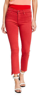 Mother The Insider Crop Step Fray Skinny Jeans