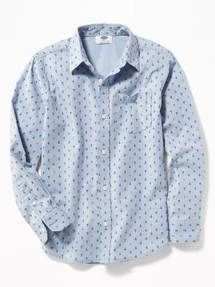 Old Navy Printed Built-In Flex Classic Shirt for Boys