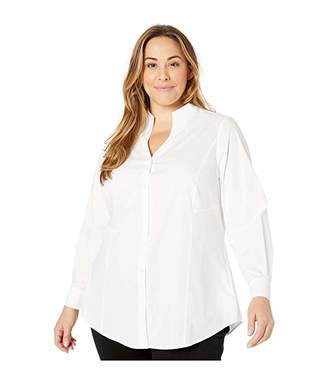Foxcroft Plus Size Selma Tunic in Solid