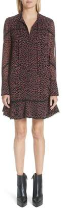 Proenza Schouler Cracked Pattern Crepe Chiffon Dress