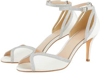 c265f641201 Monsoon Gizela Glitter Two Part Peep Toe Bridal Shoes
