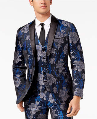 INC International Concepts I.N.C. Men's Slim-Fit Brocade Blazer, Created for Macy's