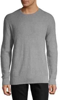 Karl Lagerfeld Honeycomb Crewneck Cotton Sweater
