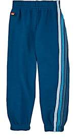 Aviator Nation Kids' Striped Cotton-Blend Fleece Sweatpants-Blue
