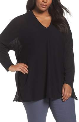 Nic+Zoe NIC + ZOE Dolman Sleeve Side Tie Top