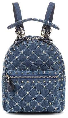 Valentino Rockstud Spike Mini denim backpack