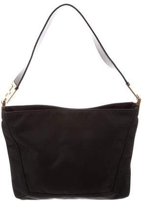 Fendi Leather-Trimmed Nylon Bag