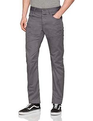 Enzo Men's EZ382 Straight Jeans, Grey, W32/L32 (Size: 32R)