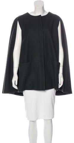 MSGM Wool Cape Coat