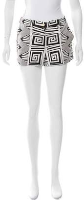 Diane von Furstenberg Printed Mini Shorts