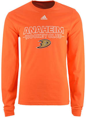 adidas Men's Anaheim Ducks Frontline Long Sleeve T-Shirt