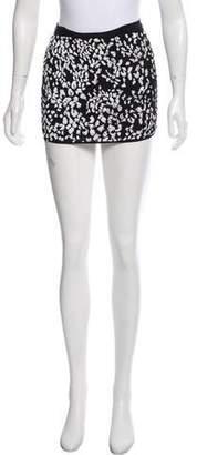 Haute Hippie Silk Embellished Mini Skirt