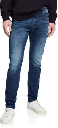 Diesel Men's Thommer Slim Fit Denim Jeans with Pocket Stitching